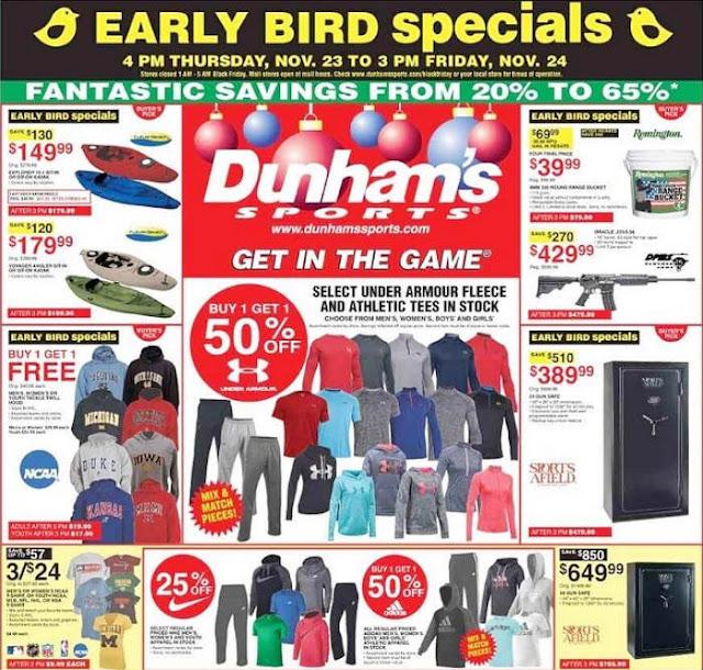 Dunhams Sports Black Friday 2017 Ad