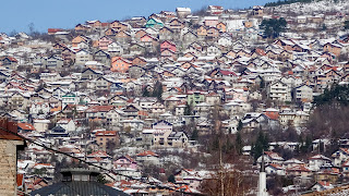 Built up the mountains in Sarajevo