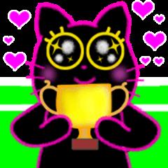Pinky Tennis Blackcat