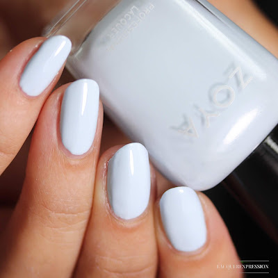 Nail polish swatch of Blu from the Zoya Bridal Bliss collection