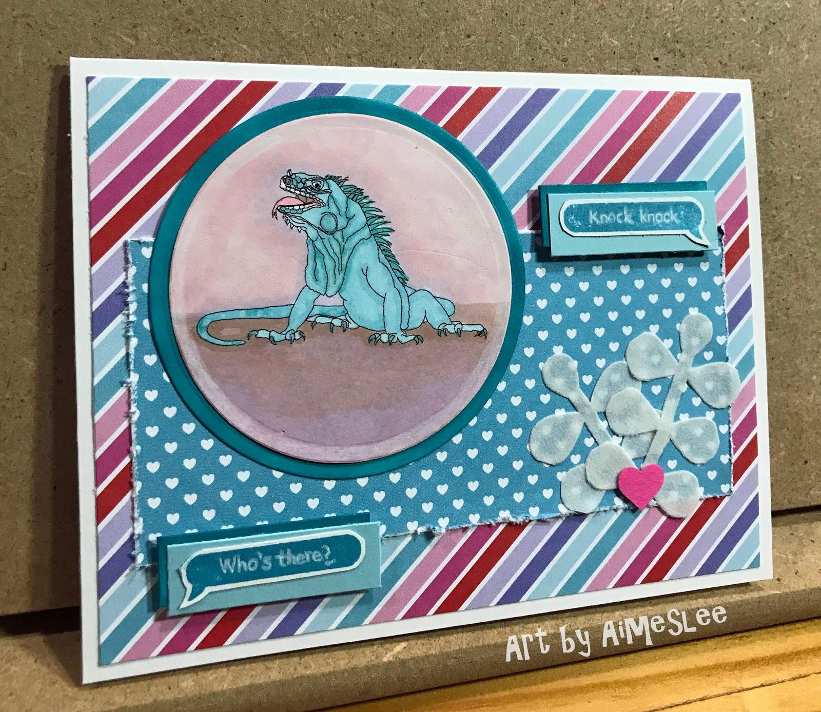 Paper Paisleys Art Adventures Blue Iguana Love