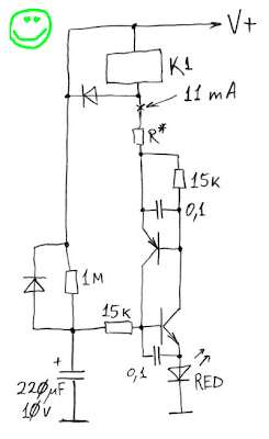 BH delay schematics or let's minimize relay contacts bouncing