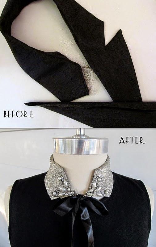 DIY: 2 ideas  para reciclar un cuello de camisa o americana