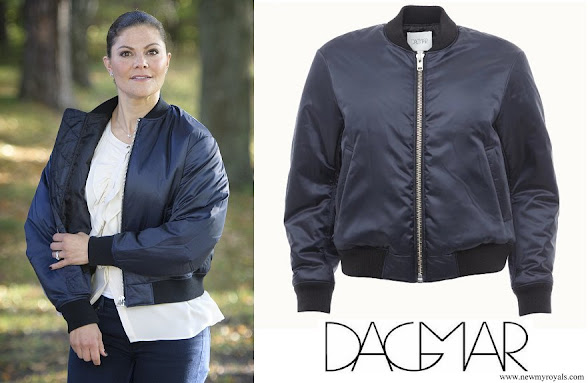 Crown Princess Victoria wore DAGMAR Poppy Bomber Jacket