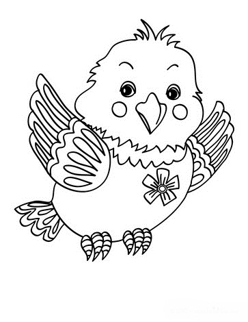 Bird coloring pages for kids printable
