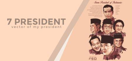 7 President in Vector (7 Presiden Indonesia) by Obiy Shinichiart
