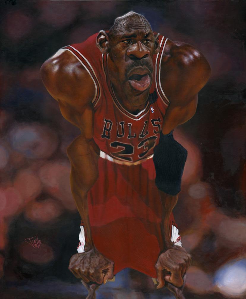"""Michael Jordan"" por Jota Leal"