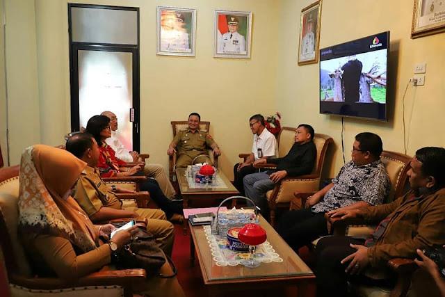 Pemkab Lambar Audiensi dengan Forum CSR Lampung