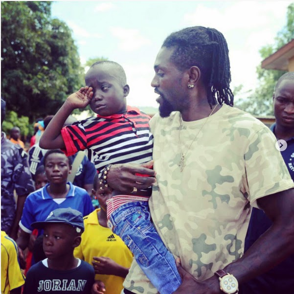 Footballer Adebayor Donated Food and School supplies to northern Schools of Togo