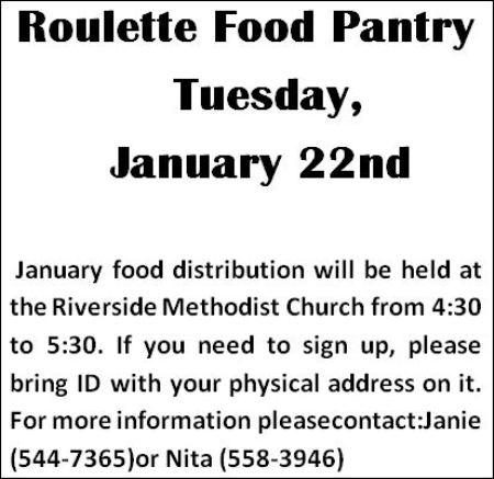 1-22 Roulette Food Pantry