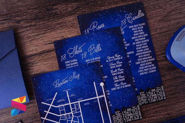 Starry Night Themed Debut Invitation Stunro Creativeworks