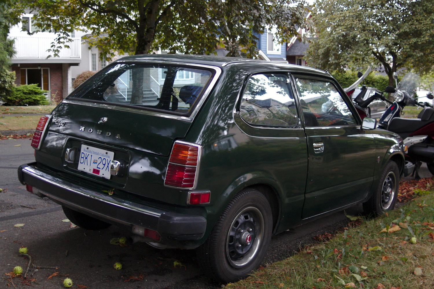 Old parked cars vancouver 1978 honda civic for 1978 honda civic