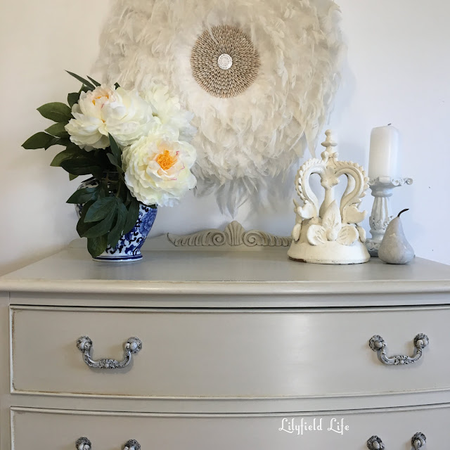 vintage hand painted furniture by Lilyfield life  : bow front drawers