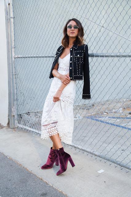 Soraya Bakhtiar con ankle boots de terciopelo #velvet | mamayfashionista.blogspot.com