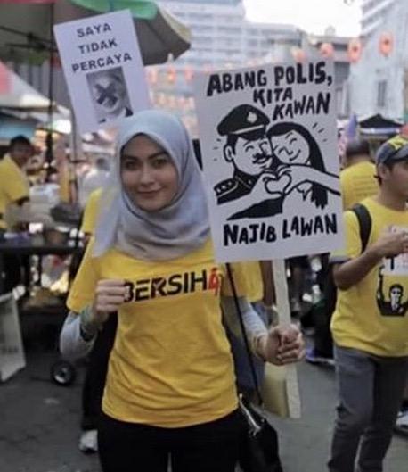 Image result for Gambar polis halang bersih