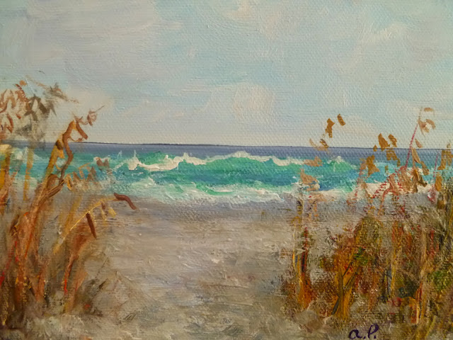 Coastal Decor Sea Oat Seascape Paintings