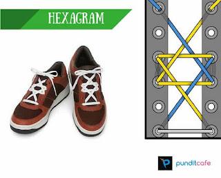 Cara Mengikat Tali Sepatu Menyilang (Hexagram)