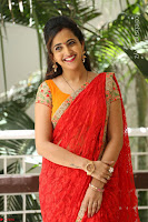 Lasya Cute Beauty in Saree Backless Choli at her Interview ~  Exclusive 129.JPG