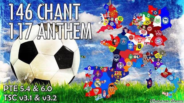 PES 2016 Chant Pack V2 + Anthem AIO