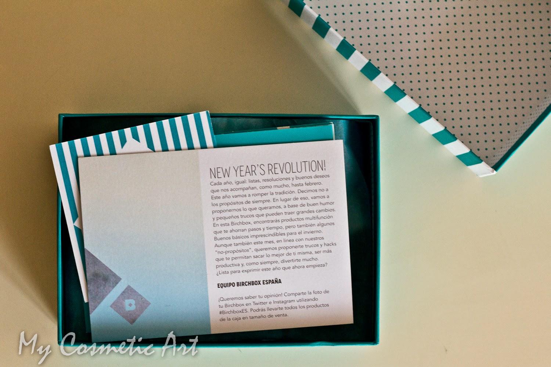 New Year's Revolution! La Birchbox de Enero de 2015 Glamour.