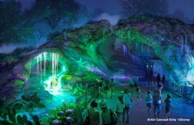 Fantasy Springs Tokyo Disney Sea Cave At Night Concept Art