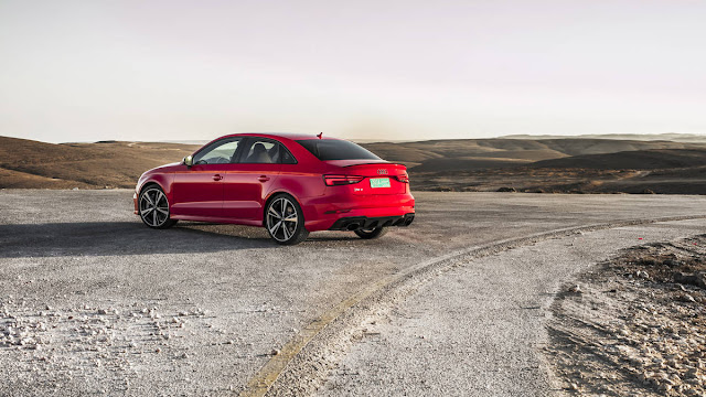 New Audi RS3 with more power back view