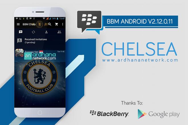BBM Chelsea V2.12.0.11 - BBM Android Tema Sepakbola