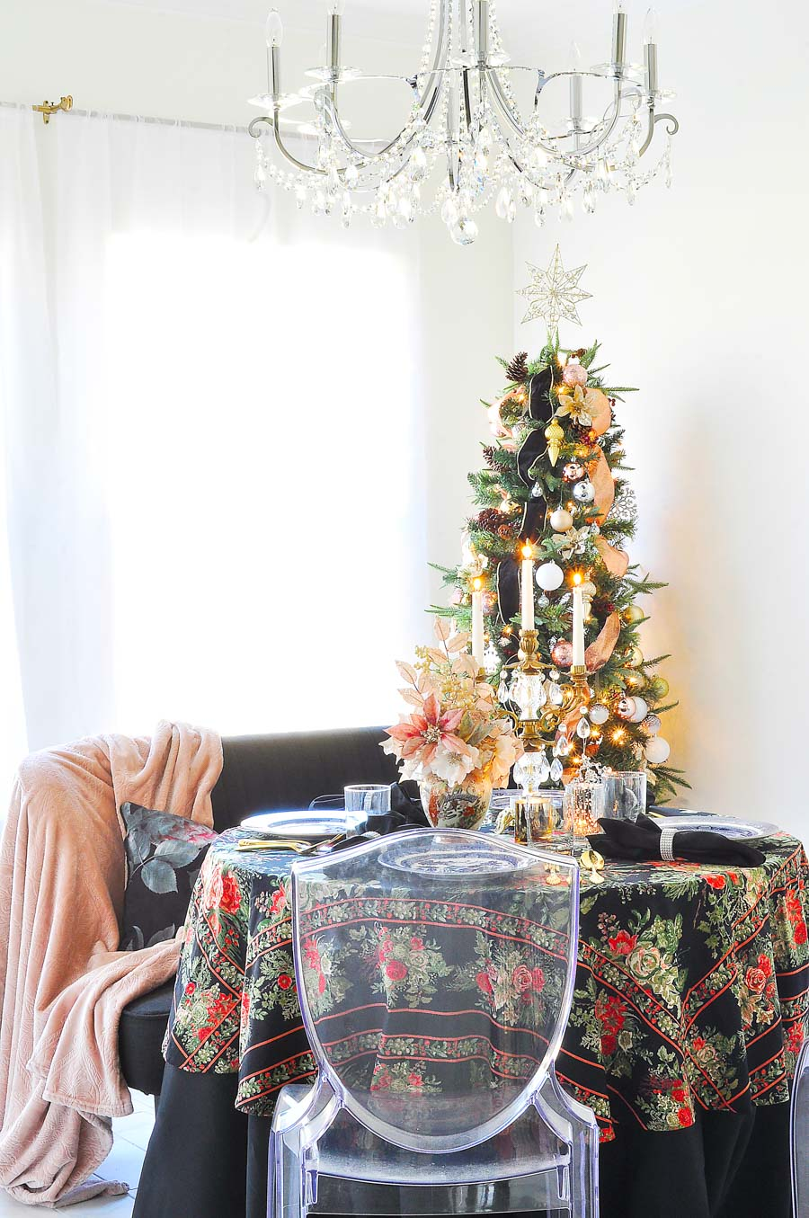 Holiday Home Tour Blush Silver Gold Decor Monica Wants It