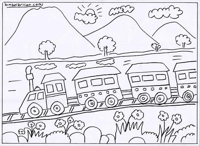 7. Gambar Kereta Api Dan Pegungungan