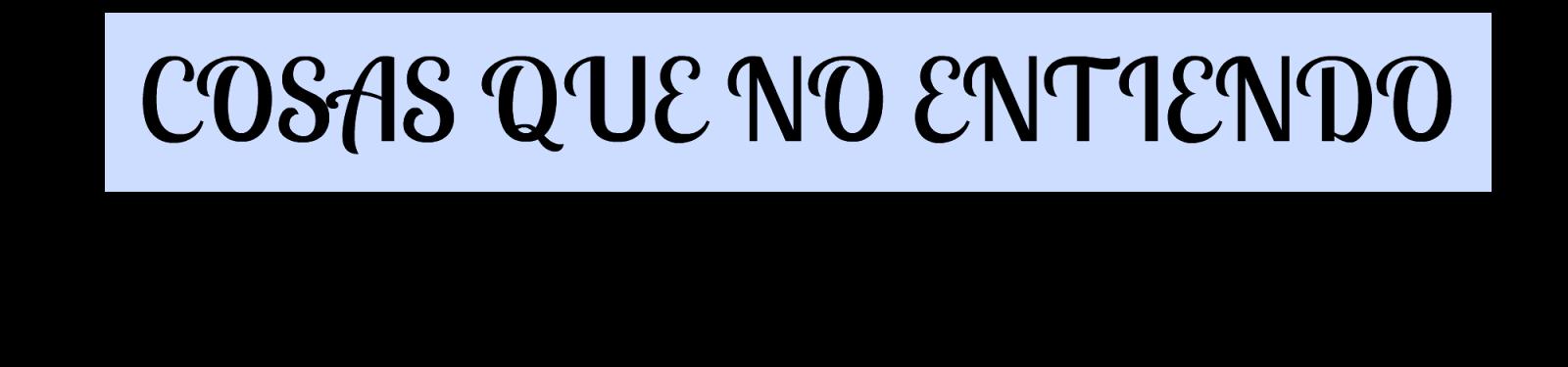 NO ENTIENDO POR QUÉ - Edición Literaria