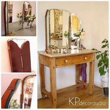 Comprar espejo tríptico antiguo. venta de espejos vintage en valencia.