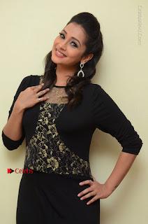 Telugu Actress Manasa Manohar Stills in Black Long Dress at Naku Nene Thopu Turumu Trailer Launch  0058.JPG
