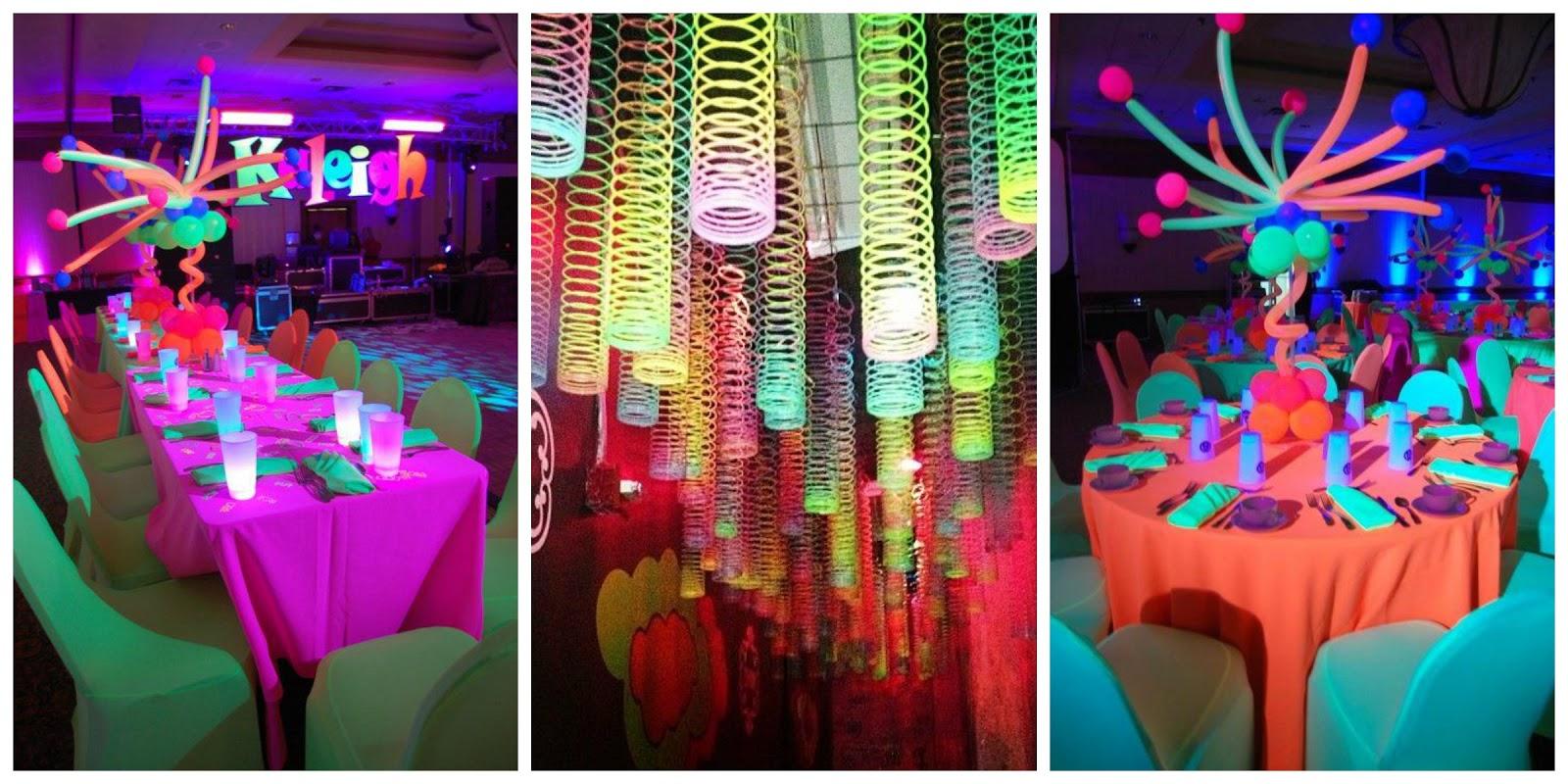 Neon party ideas para la decoraci n outfit y - Decoracion party ...
