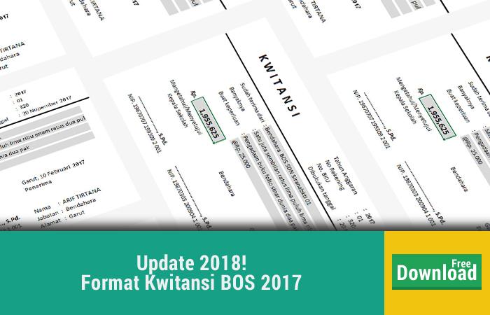 Format Kwitansi BOS 2017