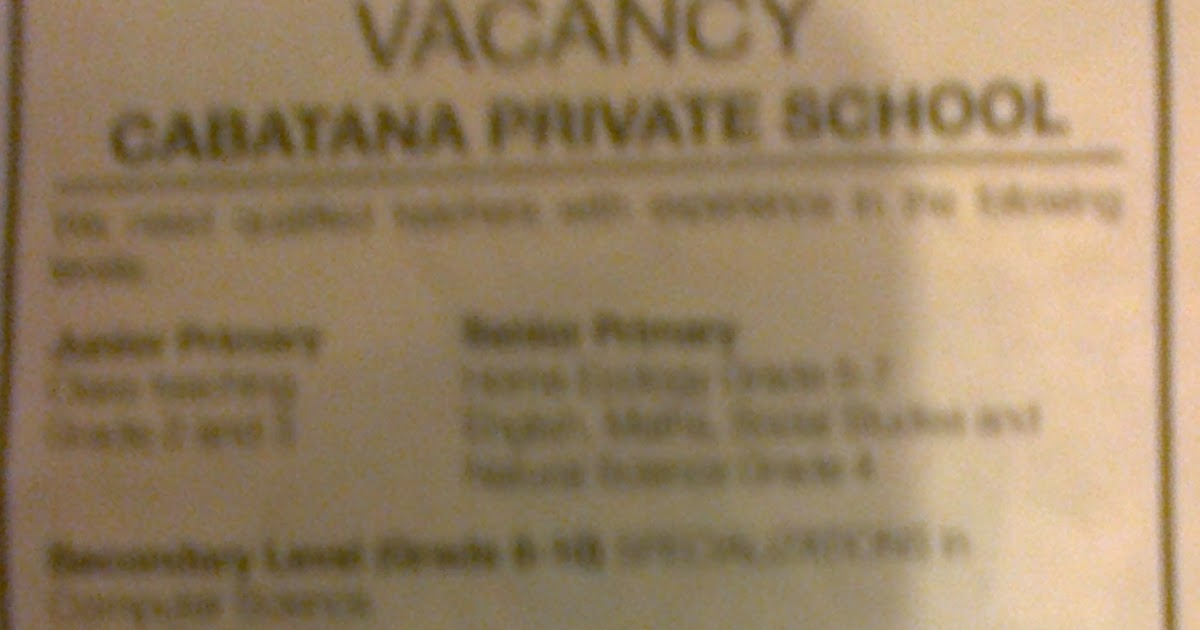 Cabatana%2BPrivate%2B_Teachers%2BVacancy Job Application Form Namibia on part time, blank generic, free generic,