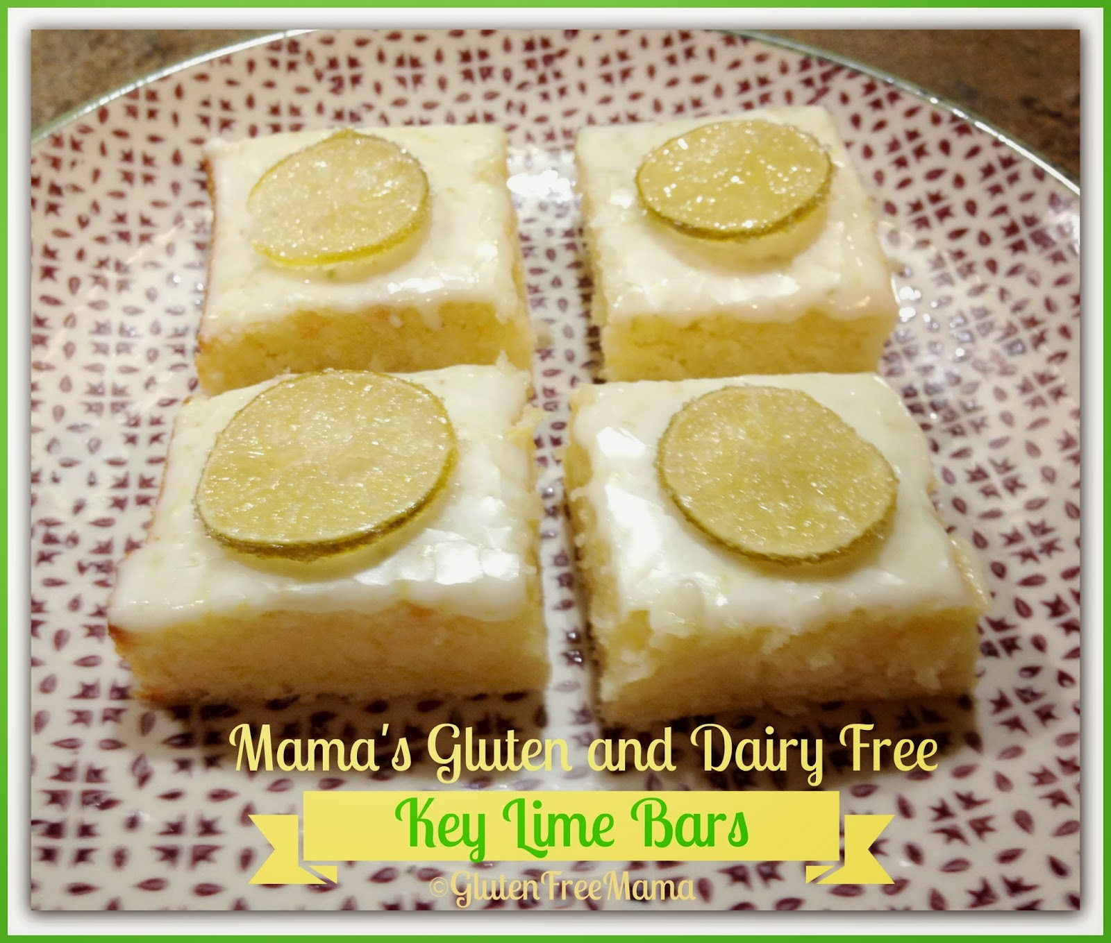 Key Lime Bars with Candied Key Limes ~ Gluten Free and Dairy Free ...