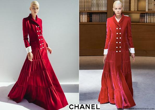 Princess Caroline Chanel Haute Couture AutWin 2019-2020 collection in Paris