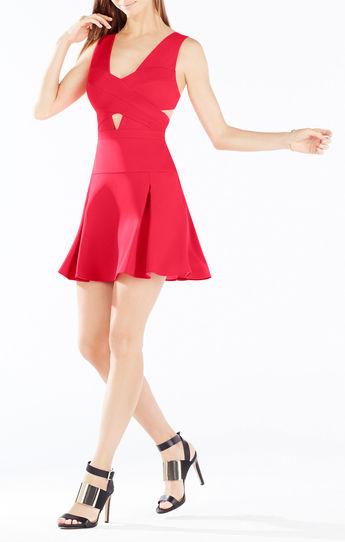 vestidos de noche cortos color vino