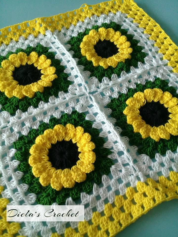 Dielas crochet crochet bunga matahari crochet bunga matahari ccuart Gallery