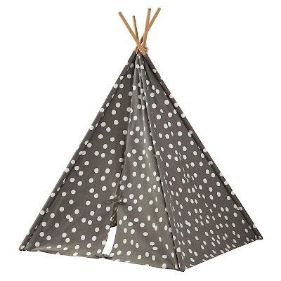 Polka-dot teepee giveaway from The Land of Nod