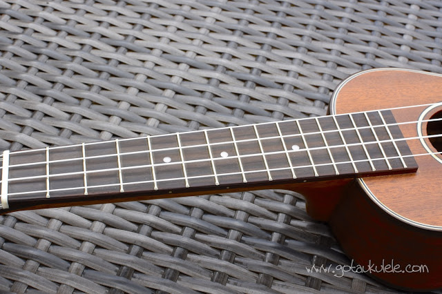Ohana SK-35 Soprano Ukulele fingerboard