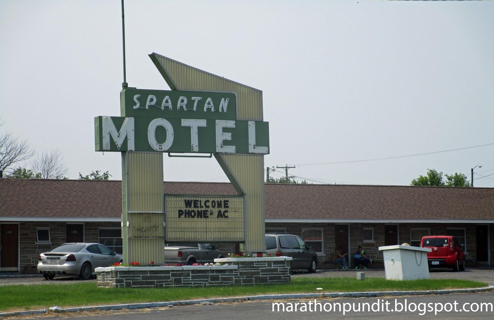 Marathon Pundit Photo Spartan Motel In Three Rivers Michigan Front Desk Hotel Exterior