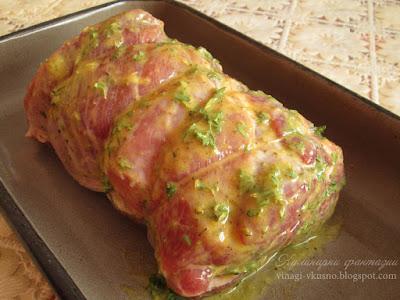 Печен свински врат на фурна