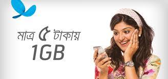 Gp 1GB internet 5 Taka offer