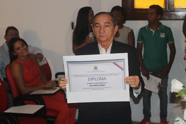 Resultado de imagem para JOÃO DOMINICI, PREFEITO DE SJB