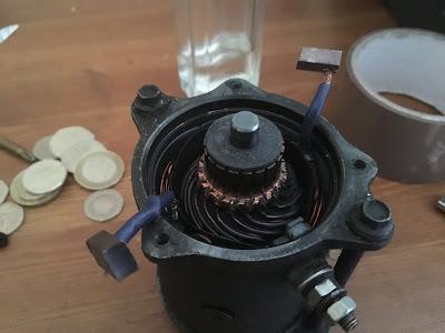 Cagiva Mito starter motor post
