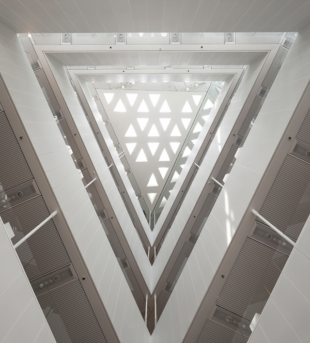 Picture of the roof as seen from the lobby looking up