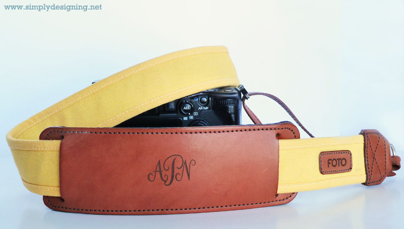 Cool Camera Straps with Monogram