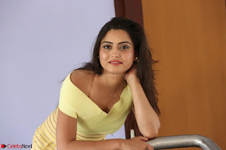 Shipra gaur in V Neck short Yellow Dress ~  020.JPG