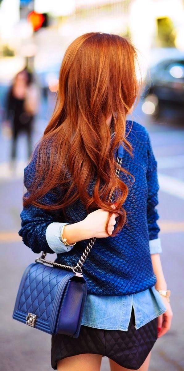 Auburn red hair color idea